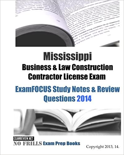 Mississippi Contractors License Exam Prep