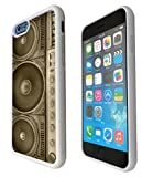 Iphone 6 Plus 5.5'' Old School Boombox Dj Music Funky Design Fashion Trend Silicone GEL Rubber Case Cover -Rubber and Metal