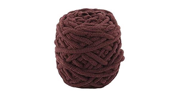 Amazon.com: eDealMax Festival de poliéster Regalo Hecho a Mano de ganchillo suéter de la bufanda el hilado del cordón del Color del Chocolate 100g