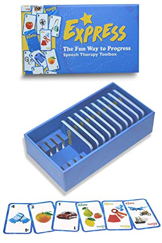 FunGames Speech Therapy FUN Card Game - 130 Flash Cards, 10 Categories | Realistic Non-Rip Waterproof Pictures | learning Materials for toddlers kids adults toys ABA aphasia autism apraxia vocabulary