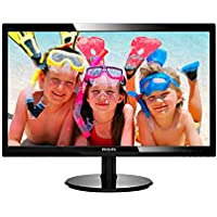 "Philips 246V5LHAB 24"" LED Monitor, 1920X1080 Resolution, 250cd/m2 Brightness, VGA/HDMI, Stereo Speakers"