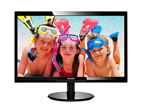 "Philips 246V5LHAB 24"" LED Monitor, 1920X1080 Resolution, 250cd/m2 Brightness, VGA/HDMI, Stereo Speakers (Player Solid Audio State)"