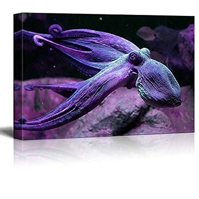 A Purple Octopus Swimming Under The Ocean, Classic Artwork, Dazzling Creative Design