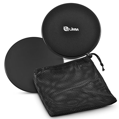 Cheap Limm Exercise Discs with Free Carry Bag and Workout Ebook (Set of 2) | Gym Sliders for Ab Training, Core Stability, Legs, Full Body | Double-Sided Fitness Gliding Pads for Hardwood, Carpet & More