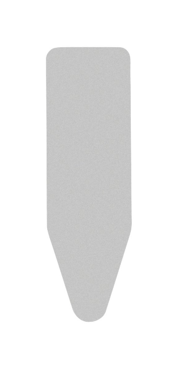 Brabantia Ironing board cover, metallized top layer without underlay, Size C - Wide, Gray (3-Pack) by Brabantia