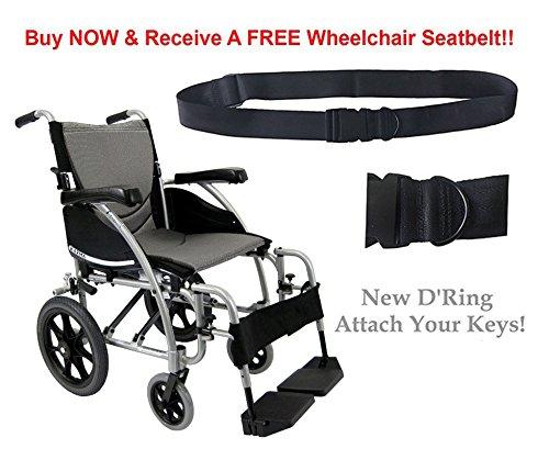New Karman S-Ergo 115  Ergonomic Transport Wheelchair with S