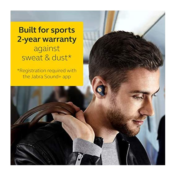 Jabra Elite Active 65t Alexa Enabled True Wireless Sports Earbuds, 15 Hours Battery, Copper Blue, Designed in Denmark