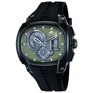 Lotus 15755/1 - Reloj analógico de cuarzo para hombre con correa de plástico, color negro