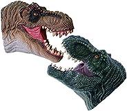 KELIWOW Dinosaur Hand Puppets Toy | Realistic Soft Rubber Tyrannosaurus Rex Puppets, Bath Toy & Beach Toy