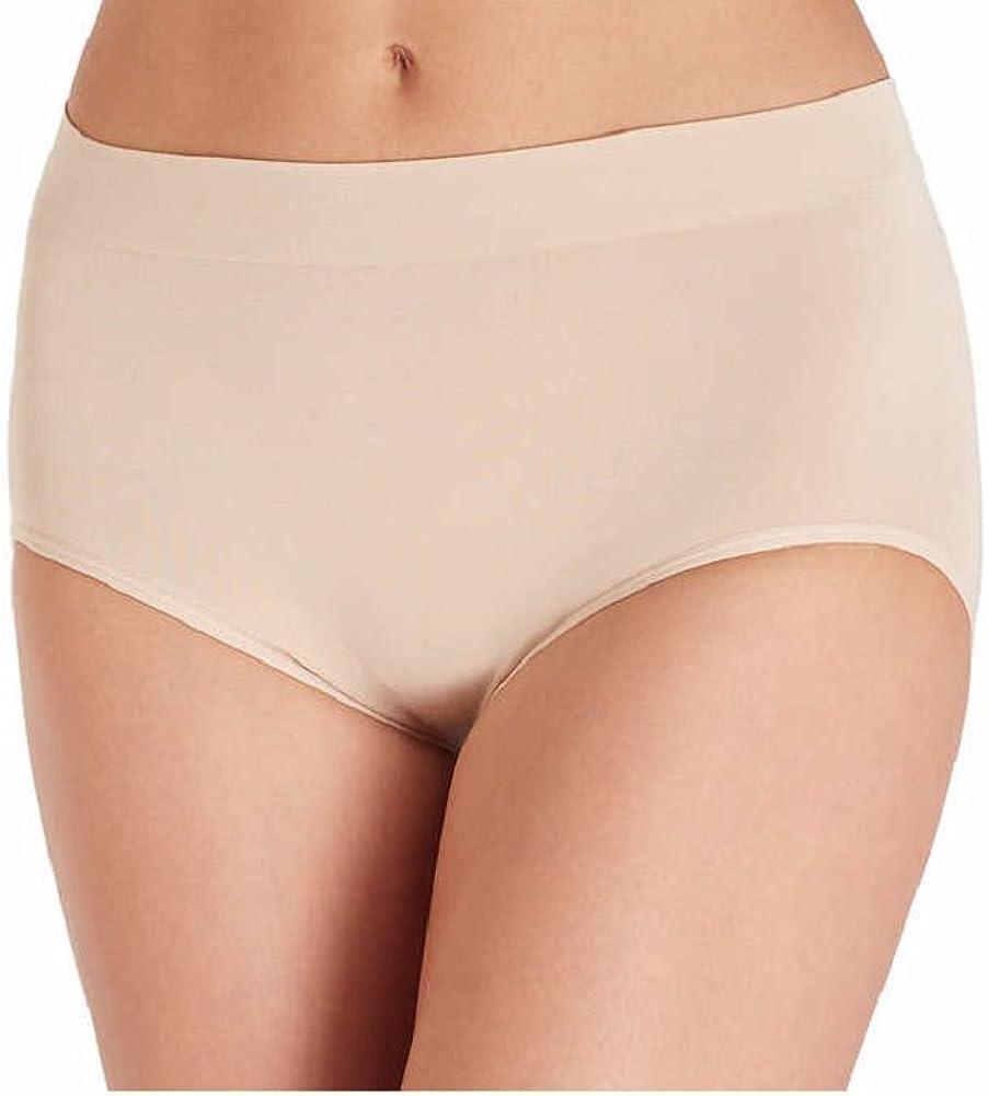 Carole Hochman Ladies/' 5-pack Seamless Brief XLarge White,Black,Pink,Beige,Brown