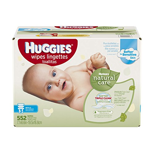 Huggies Natural Care Baby Wipes, Refill, Unscented, Hypoallergenic, Aloe and