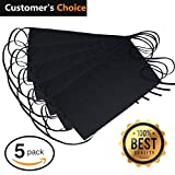 ": NEZZON Black Waitress Apron-5 Pack with 3 Pockets: 7.9x6.5""–Commercial Grade 35% Cotton & 65% Polyester–Professionally Hemmed Edges to Last–Smart Look,Low Crease–Machine Wash,Iron,Quick Dry"