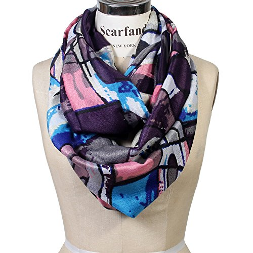 Scarfand Vibrant Painting Artistic Print Infinity Scarf (Abstract - Artistic Abstract