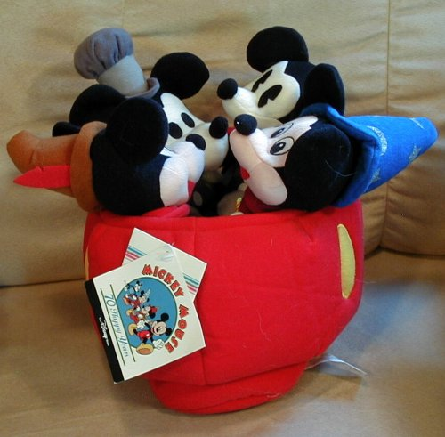 Disney Mickey Mouse Mini Bean Bag Plush - 9