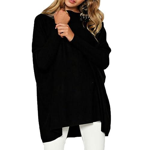 Suéter Mujer Camisas Manga Larga Blusas Otoño Camisetas Sueltas Suéter Largo Casual Negro Rosa Gris Blanco Verde Azul M-XL Juleya
