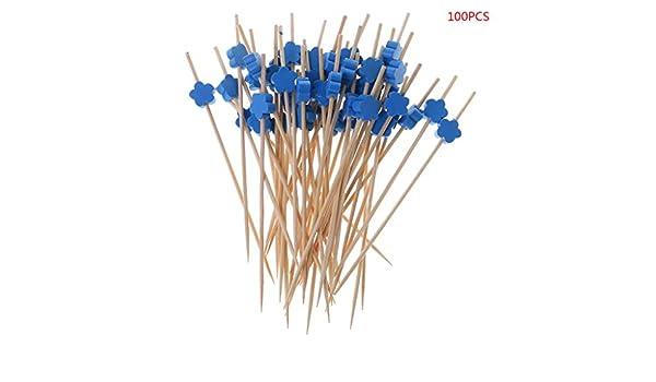 Azul Lifet 12 cm para Hacer s/ándwich con los Dedos y Las Manos dise/ño de ciruelas L/änge: ca 100 Palos de c/óctel de Madera