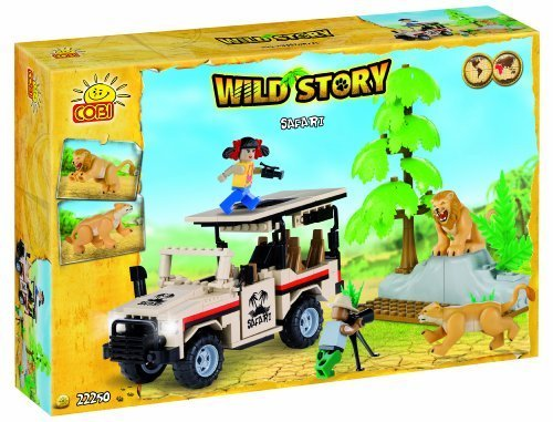 Colom Blocks safari-2 Characters and Lions Wild Story Toy, 250-piece by Colom Blocks