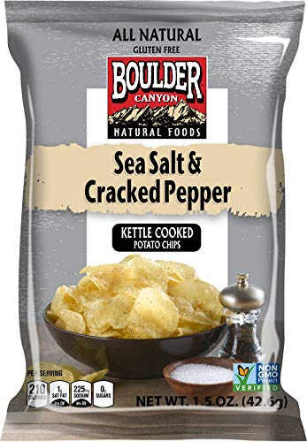 (Boulder Canyon, Sea Salt & Pepper Kettle Cooked Chips, 1.5 oz. (55 Count))