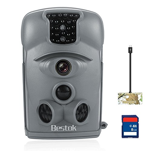 Bestok Trail Camera 12MP 120 HD Game Camera with Night Vision 65ft Waterproof IP54 Wildlife Protected Hunting Camera