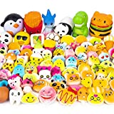 WATINC Random 50 Pcs Squishies Cream Scented Kawaii Simulation Lovely Toy Jumbo Medium Mini Soft Squishy, Phone Straps (WT-Squishy 50Pcs)