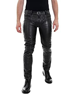 d107c88bb1bf68 SouthBeachLeather Quilted Leather Pant Double Zipper Pants Leather ...