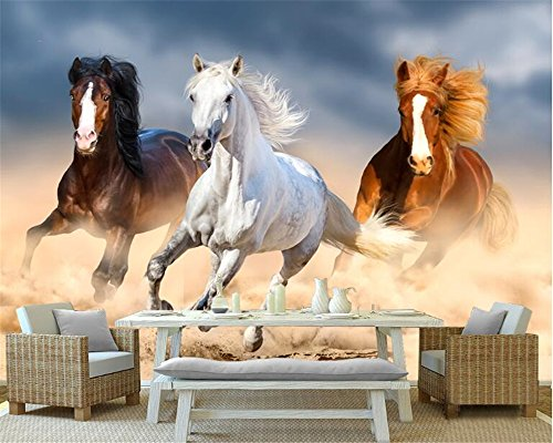 Mznm Modern Dream Wallpaper Animal Oil Painting Running Horse Horse Background Wall Murals Wallpaper For Walls 3 D Tapety