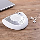 White Noise Sound Machine - Mesqool 8 Soothing Natural Sounds Sleep Therapy Spa Machine, Auto-Off Timer, 2 USB Charging Ports, Earphone Jack, Battery or AC Powered, Portable for Home, Office or Travel