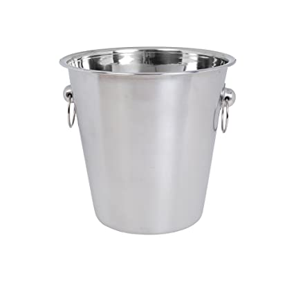 Kosma Acero Inoxidable Cubo de Champán | Cubitera en acero inoxidable - 21 x 21cm (4 litro) | Perfecto para Navidad, cumpleaños, bodas, regalos de ...