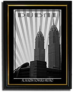 Al Kazim Towers Metro - Black And White F08-m (a2) - Framed