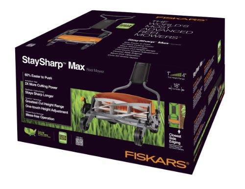 046561162016 - Fiskars Staysharp Max Reel Mower, 18-Inch carousel main 3