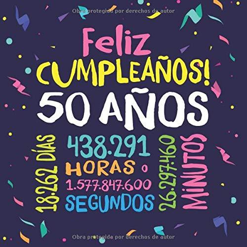 Feliz Cumpleaños - 50 Años: Un libro de visitas para fiesta ...