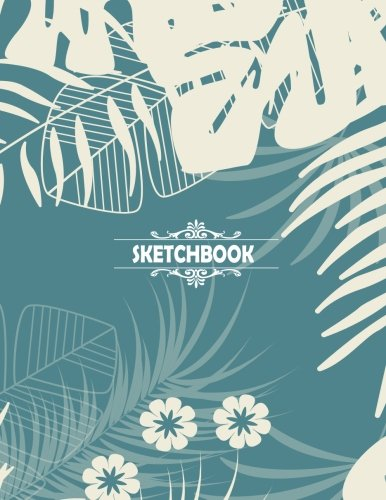 Download Sketchbook: Blank pages, Extra large (8.5 x 11) inches, 110 pages, White paper, Sketch, Draw and Paint Flower Cover pdf epub
