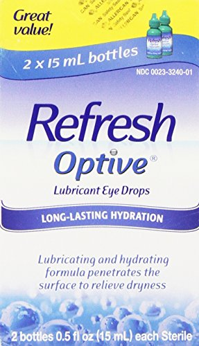 Refresh Optive Lubricant Eye Drops, Box of 2 x 15 ml bottles (Best Cataract Surgeons In Us)