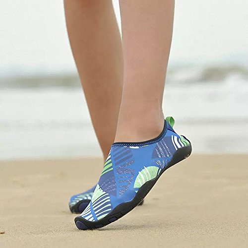 Pool Aqua blue Water Swimming ZHENZHONG Shoes Shoes On for Water Barefoot Flexible Mens F Slip Womens Beach aaUwYP
