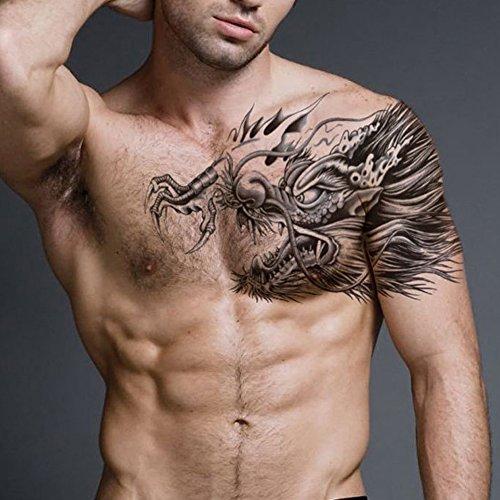 Amazon.com : Deardeer Large Size Tattoo Stickers Fake Temporary ...