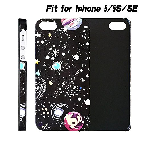 luminous iPhone 5 5s SE Case/STAR-TOP Ultra Slim Color Emboss Starry Night Galaxy and Interstellar Coated Non Slip case for iPhone 5 5s SE