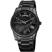 Akribos XXIV Black Stainless Steel Men's Dress Watch – Analog Quartz – AK1039BK