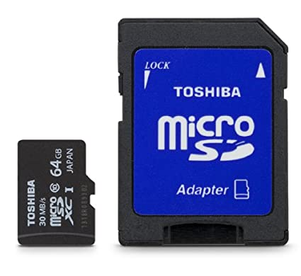 Toshiba 64GB Micro SDXC memoria flash MicroSDXC Clase 10 - Tarjeta de memoria (64 GB, MicroSDXC, Clase 10, 30 MB/s, Negro)