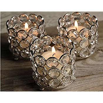 Crystal Tealight U0026 Votive Candle Holders Wedding Table Centerpieces Set ...