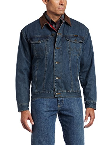 - Wrangler Men's Western Style Lined Denim Jacket