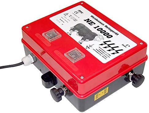 Eider NE 10000 Weidezaungerät Rot Optische Kontrollleuchte 8,20 Joule Energie