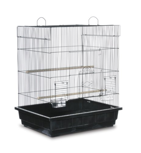 Prevue Pet Products Square Top Parakeet Cage, Black