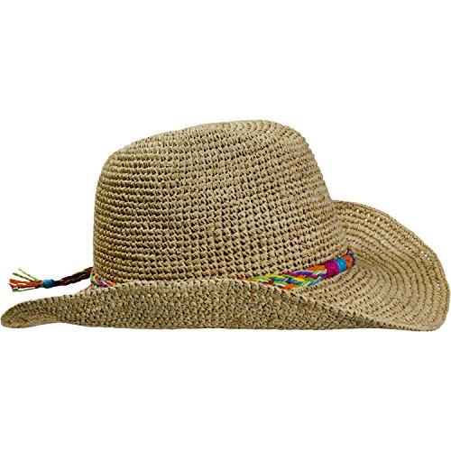 Turtle Fur Straw Beach Cowboy Wired Brim Summer Sun Hat Vermont Collection Sun Style, Tropical