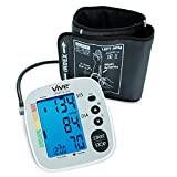 Blood Pressure Monitor by Vive Precision - Automatic Digital Upper Arm Cuff - Accurate, Portable & Perfect for Home Use - Electronic Meter Measures Pulse Rate - One Size Fits Most Cuff (Silver)