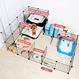 ALLISANDRO Small Pet Playpen, Small Animal Cage for