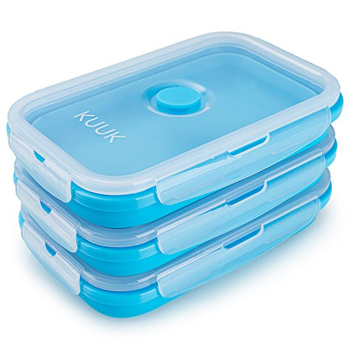 KUUK Collapsible Silicone Food Container - Large Size , 3