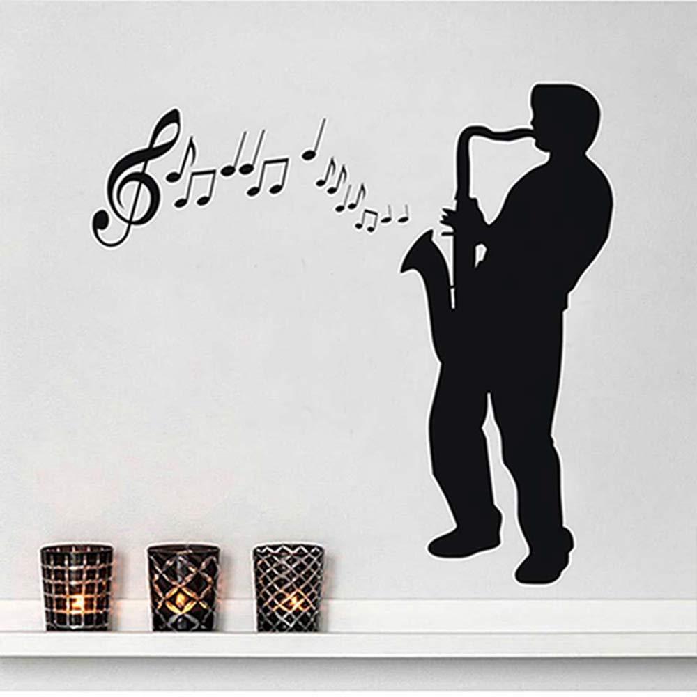 Jugador de saxofón pegatinas de pared de gran tamaño Diy ...