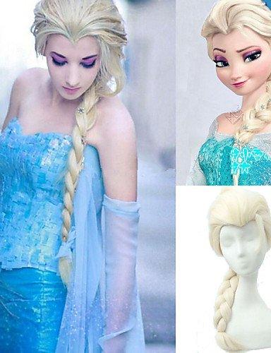 Fácil y forma cómoda y pelucas pelo europeo 28 pulgadas película gefroren Nieve Princesa Elsa peluca