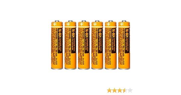 6 x Pilas Recargables AAA 550 mah 1.2v para Panasonic, baterias Recargables NiMH para telefonos inalambricos: Amazon.es: Electrónica
