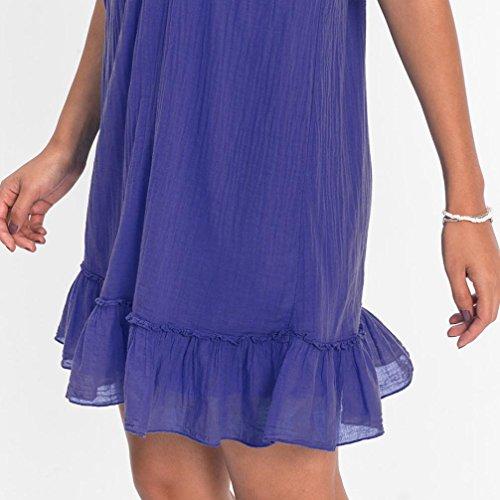 a Donna Bekleidung Senza Vestito Blau maniche SANFASHION linea ad IqSUf